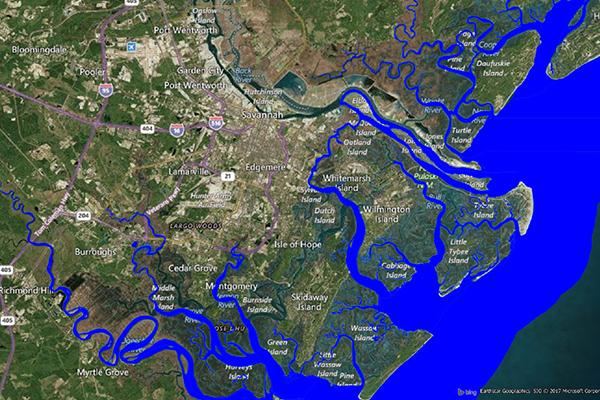 Coastal Risk - Hurricane risk map and shoreline flooding risk assessment