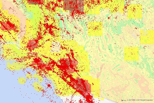 Earth Risk from Precisely - U.S. earthquake risk map, landslide risk & more