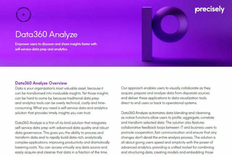 Data360 Analyze for data analytics