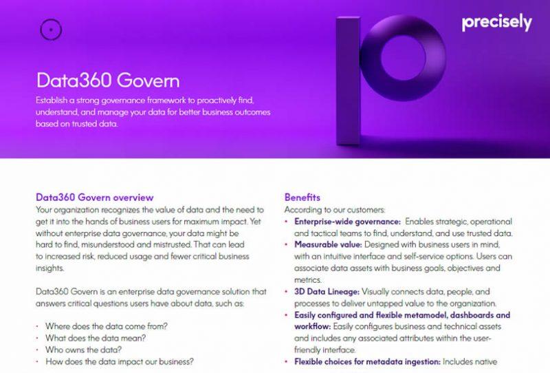 Precisely Data360 Govern - data governance