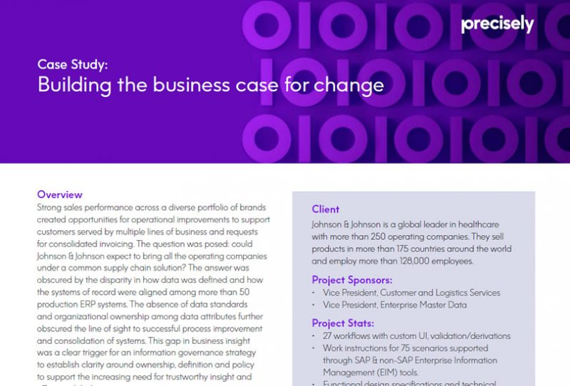 Building the Business Case for Change at Johnson & Johnson
