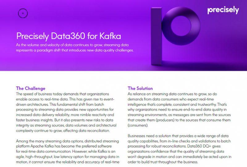 Precisely Data360 for Kafka