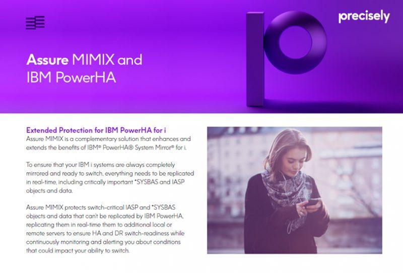 Assure MIMIX and IBM PowerHA