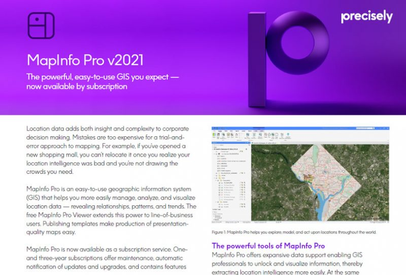 MapInfo Pro 2021
